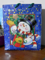 New Year's EVE bag with Snowman by hodgeunicorn