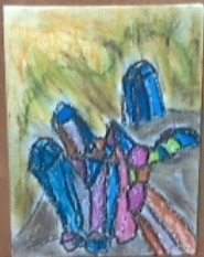 gem oil pastels by hodgeunicorn