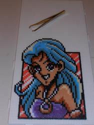 Shell from Shining Force - Pixel beads - Hama by Valijka