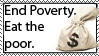 End Poverty stamp by Amersill