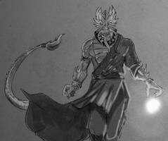 Dragonborn Monk by Bored-Drawfriend