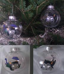 Deadquius and Necropeta Dream Bubble Ornaments by LaPopeArmadillo