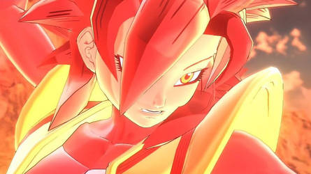Dragon Ball Xenoverse 2: SSJ4 Kaioken Zalika by SilentNamekian
