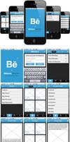 Behance Network iPhone app by phinik
