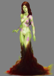 Acid goddess concept by CountCarbon
