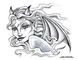 Devil Girl by MuddyGreen