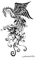 Tribal Phoenix by MuddyGreen