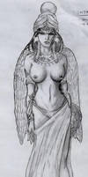 Inanna in black and white by Medusa1893