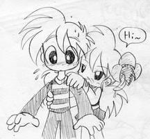 Coffboy meets Hibisca by Coffgirl