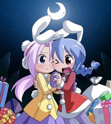 Christmas Nico and Aru by Coffgirl