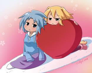 Nath and Sora Valentine by Coffgirl