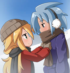 Nath and Sora Winter by Coffgirl
