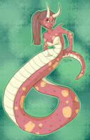 Horned Naga by FlavorlessMuffin