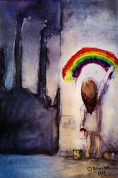 Paint a rainbow by Kawchii