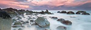 Misty Stones on the Coast 2 by Niv24