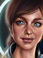 Sara Ryder -Mass Effect Andromeda by Mythicalpalette