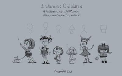 1 week: Children by BoggartOwl