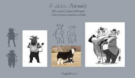 5 week: Animals by BoggartOwl