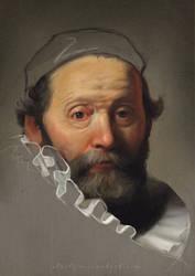 Portrait of Johan Wtenbogaert by eloel