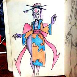 Evelynn geisha by ARTEdelCHAMAN