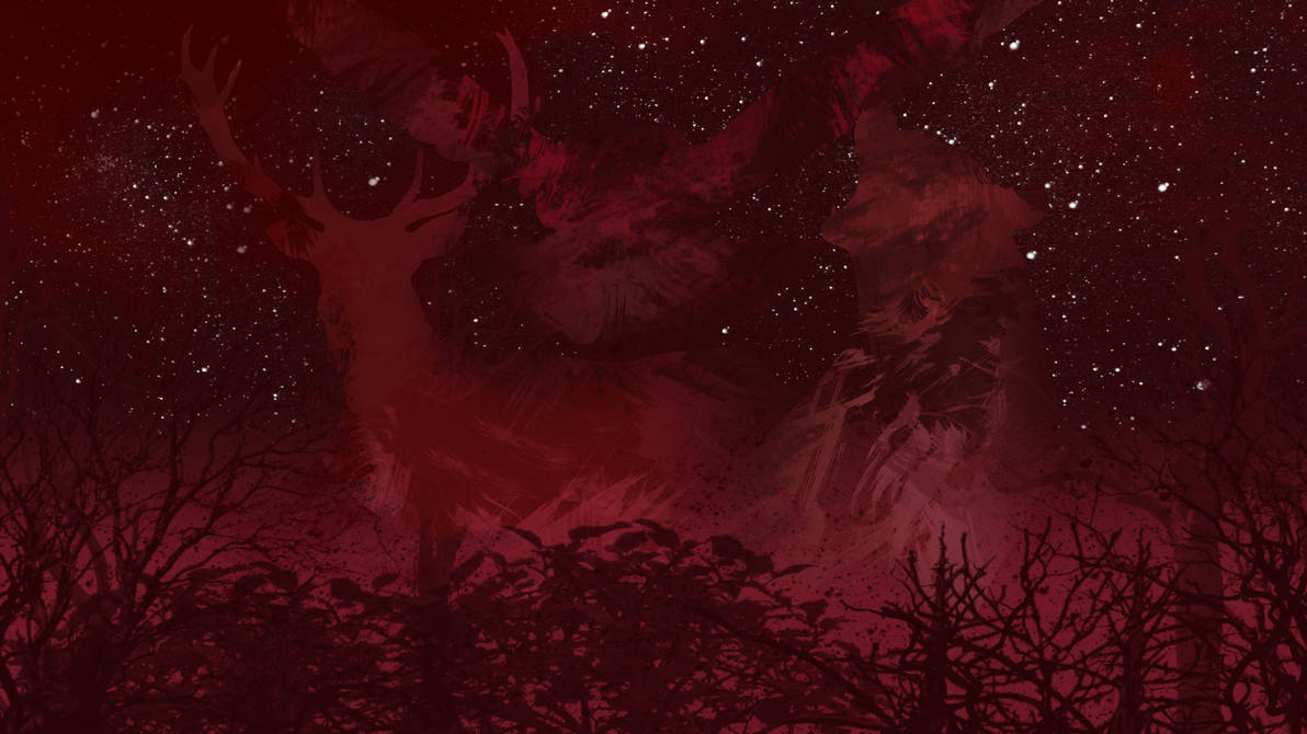 Forest Night Sky With Animals Wallpaper By Basketfreak13