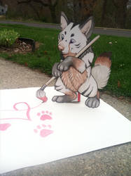 Huge Natsume paper Child by NatsumeWolf