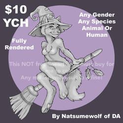 $10 YCH Halloween Witch-Multiple Use by NatsumeWolf