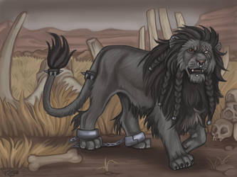 The Black Lion by NatsumeWolf
