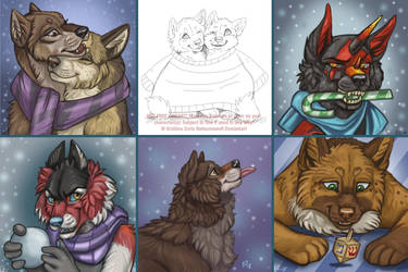 YCH Winter Pups SOLD by NatsumeWolf