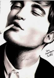 Robert Pattinson 3 by crayon2papier