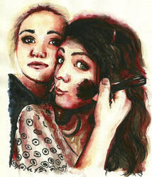 Maya and Charlotte by crayon2papier