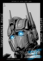 Optimus Prime portrait Sketch by JasonCardy