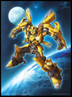 Bumblebee art for AA09 by JasonCardy