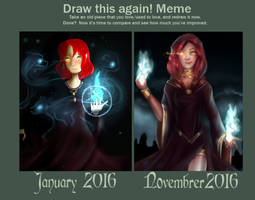 Draw this again: Sorcerer by Elidyss