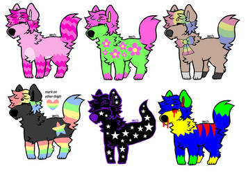 pup adopts (cLOSED) by tiddycity