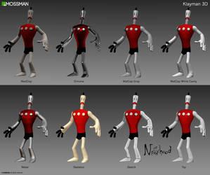 Klayman 3D - Material variants - The Neverhood by Mrmossman