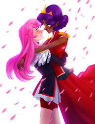 Utena and Anthy by LeishaRiddel