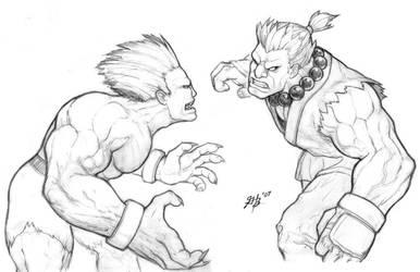 Blanka vs Akuma 07 by ghbarratt
