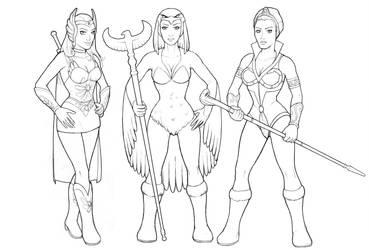 The Women of Grayskull Inks by ghbarratt