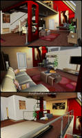 Living Room and Bedroom - Memento Mori 2 by JhonyHebert