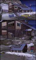 Motel near Inari (Outside) - Memento Mori 2 by JhonyHebert