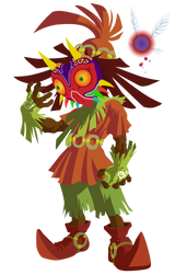 Skull Kid Vector - Legend of Zelda: Majora's Mask by firedragonmatty