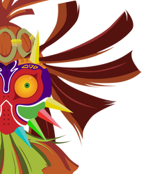 Skull Kid Close Up Vector - Zelda: Majora's Mask by firedragonmatty