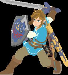 Link - 03 : Smash Bros Ultimate - Vector Art by firedragonmatty