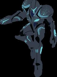 Dark Samus - 04e : Smash Bros Ultimate -Vector Art by firedragonmatty