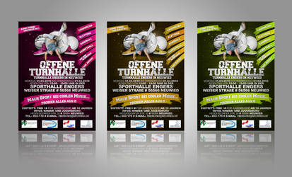 Flyer for Sportevent 3 color by GGROCA