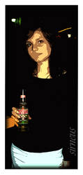 Girl and the beer by Sirneus