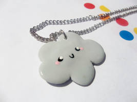Happy cloud necklace by kikums