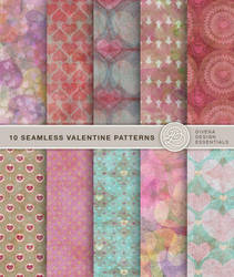 10 Seamless Valentine Patterns by Divenadesign