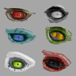 Dragon eye sketches by JoeyJazz